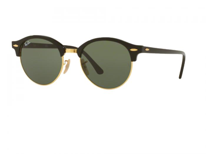 rb4246_901_tq Ray-Ban Clubround Black Green