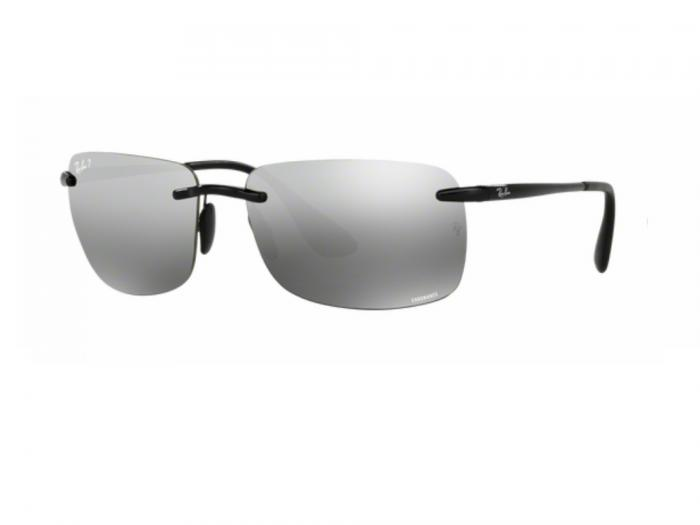 rb4255_601_5J_tq Ray-Ban Chromance Shiny Black Grey Mirror Polarised