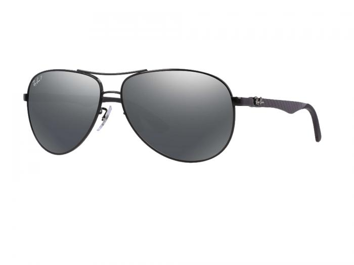 rb8301_002_K7_tq Ray-Ban Carbon Fibre XL Shiny Black / Grey Mirror Black Polarised