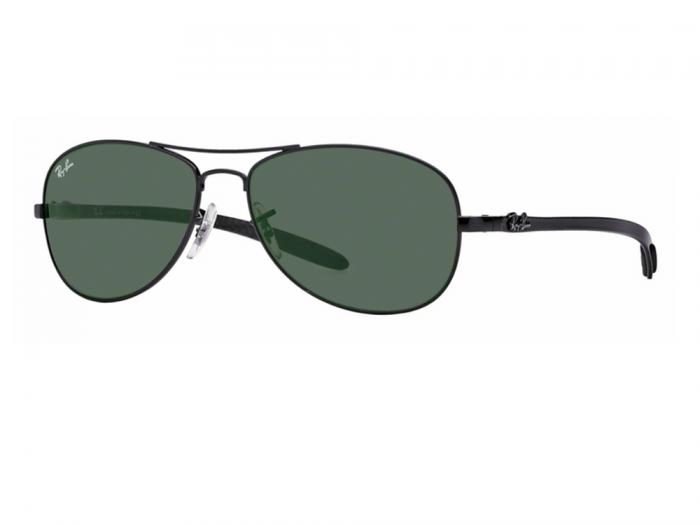 rb8301_002_tq Ray-Ban Carbon Fibre Black / Green