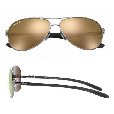 rb8301_004_N3_shot2 Ray-Ban Carbon Fibre Gunmetal / Gold Mirror Polarised