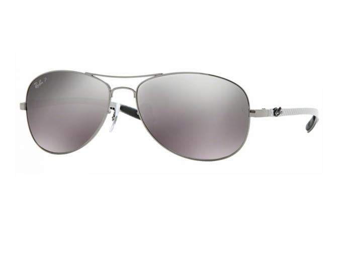 abdde8791ec rb8301 004 N8 tq Ray-Ban Carbon Fibre Gunmetal   Grey Mirror Silver  Polarised