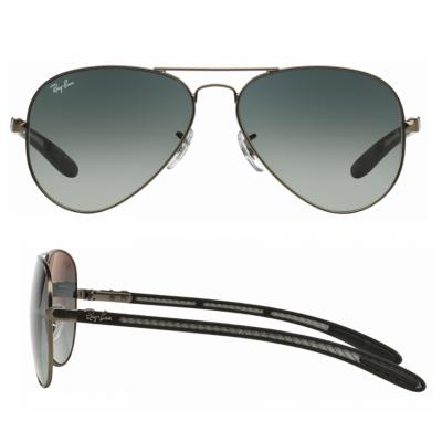 rb8307_029_71_shot2 Ray-Ban Aviator Carbon Fibre Matte Gunmetal / Grey Gradient Azure