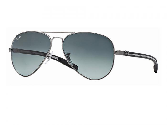 rb8307_029_71_tq Ray-Ban Aviator Carbon Fibre Matte Gunmetal / Grey Gradient Azure