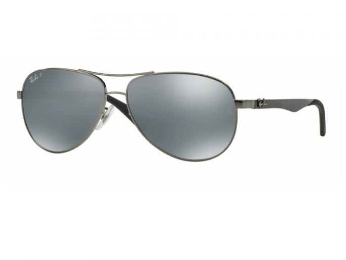 rb8313_004_K6_tq Ray-Ban Carbon Fibre XL Gunmetal / Blue Mirror Polarised