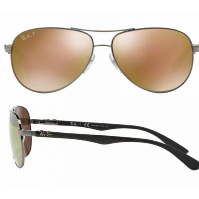 rb8313_004_N3_shot2 Ray-Ban Carbon Fibre XL Gunmetal / Brown Mirror Gold Polarised