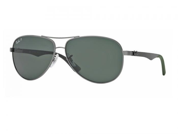 rb8313_004_N5_tq Ray-Ban Carbon Fibre Gunmetal / Polar Green Polarised