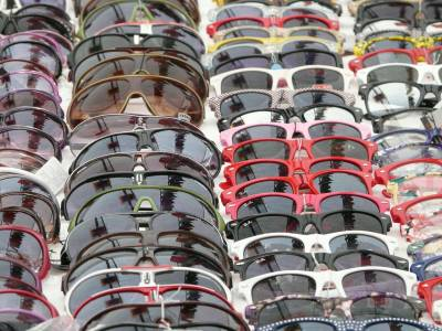 Sunglasses stacked